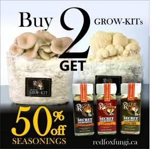 Buy 2 Grow-kits, get 50% off any seasoning